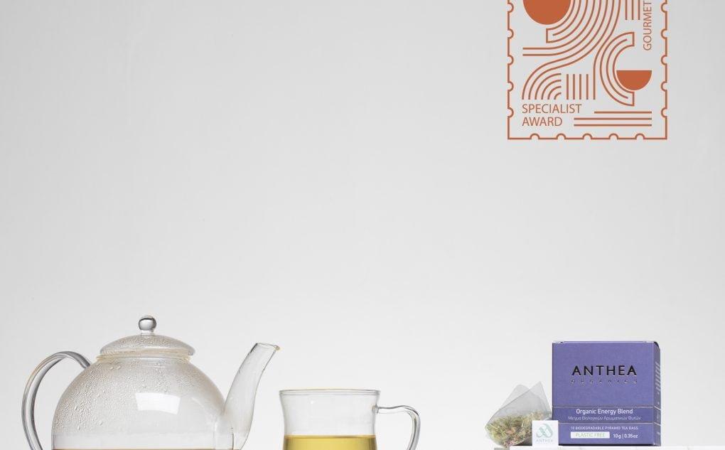 anthea organics energy blend won he bronze award at Gourmet Exhibition's Specialist Awards