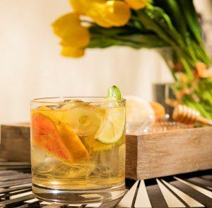 alcohol free mojito with organic lemon verbena
