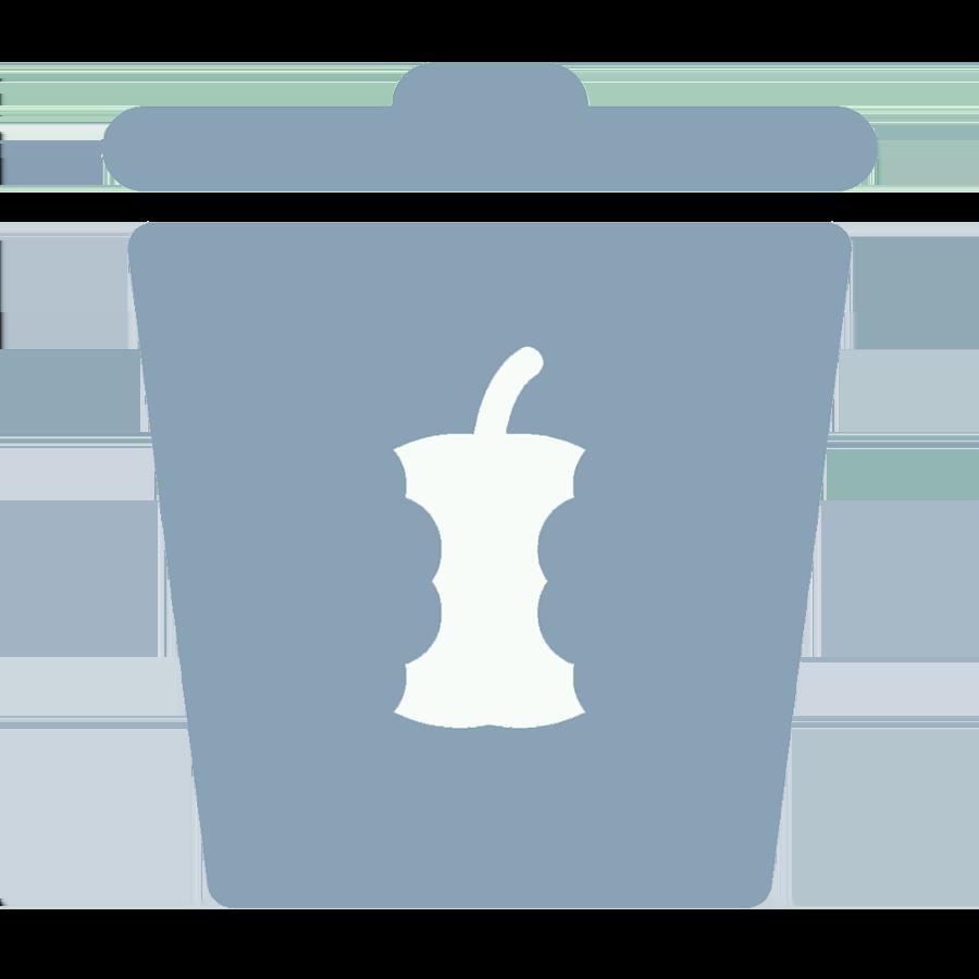 Put in food bin